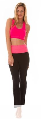 Bottoms Up Flare Leggings With Fold Waistband - 5 Colors