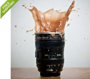 Camera Lens Stainless Steel 12 oz Coffee Mug