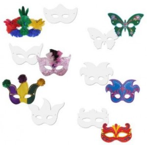 Chenille Kraft Die Cut Paper Mardi Gras Ready to Color Masks
