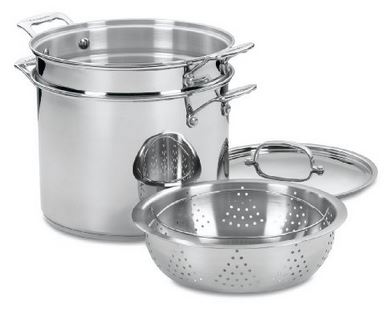 Cuisinart 77 412 Chefs Classic Stainless 4 Piece 12 Quart Pasta Steamer Set Cuisinart Chefs Classic Stainless 4 Piece 12 Quart Pasta/Steamer Set for $52.99 (Reg $150) *Great Reviews*