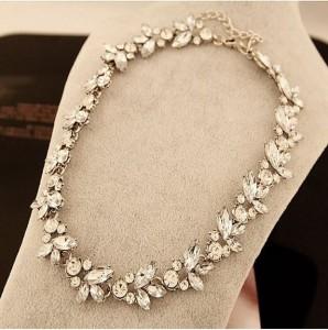 Full Crystal Collar Bib Temperament Necklace