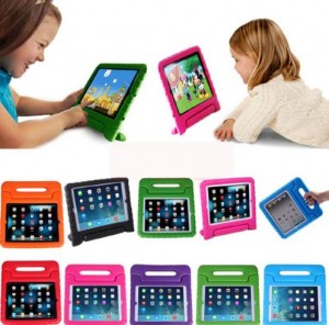 Kids Shock Proof Foam Case Handle Cover shell Stand for iPad 2 3 4 Mini