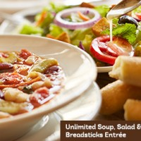 Olive Garden Soup Salad Breadsticks Lunch 5 Utah