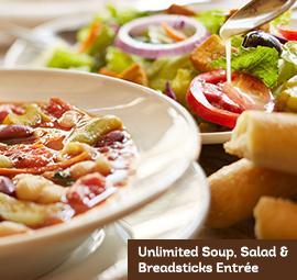 Olive garden soup salad breadsticks lunch 5 utah for Olive garden lunch hours
