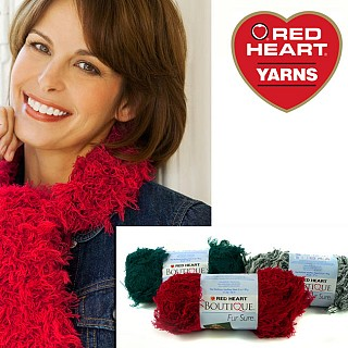 Red Heart Boutique Yarn Fur Sure 3 pack yarn