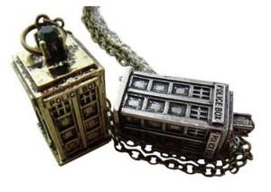 Retro Police Box Pendant Necklace
