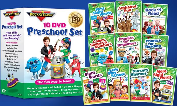 Rock N Learn 10 Preschool DVD Pack