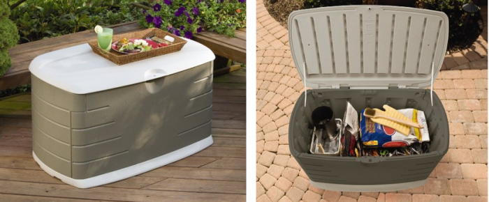 Rubbermaid 5F21 Deck Box with Seat deal HOT! Rubbermaid Deck Box with Seat for $63 (Reg $112) *Today Only*