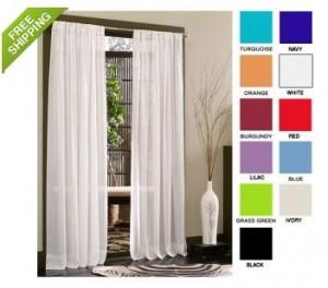 Sheer Curtain Panels