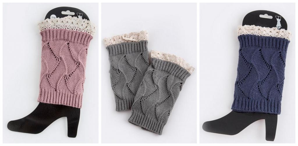 boot socks lace cuff
