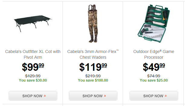 cabelas outfitters sale