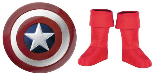 captain america shield and boots