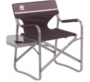coleman camp chair 300x274 Portable Deck Chair with Table $29.99 (Reg. $54.99)