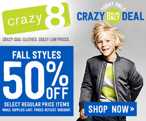 crazy 8 50 off fall styles