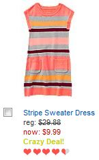 crazy 8 striped sweater dress