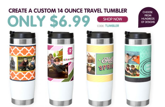 custom 14 ounce traveler tumbler Custom 14 Ounce Travel Tumbler for $6.99 (Reg $21.99)!
