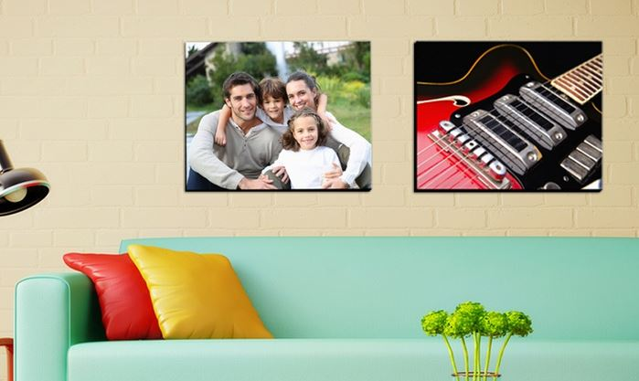 custom gallery-wrapped photo canvas