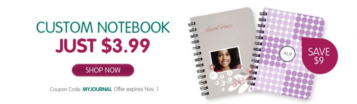 custom notebook Custom Notebook/Journal for $3.99 (Reg $12.99)!