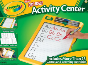 dry erase maker set 300x222 Crayola Dry Erase Activity Center $9.47 (Reg. $17.99)