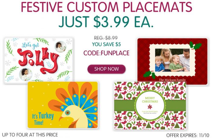 festive custome placemats