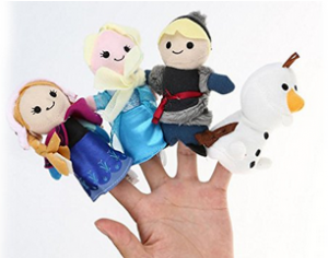frozen anna elsa kristoff olaf finger puppets 300x236 *HOT* Frozen Finger Puppet Set with Anna, Elsa, Kristoff, & Olaf for $12.99! *In Stock*