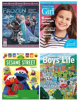 frozen sesame street american girl boys life magazine deals