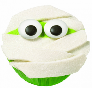 halloween cupcake 300x286 Wilton Mummy Cupcake Decorating Kit $4.99 (Reg. $8.99)