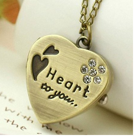 heart necklace Heart Pendant Necklace $4.43 Shipped