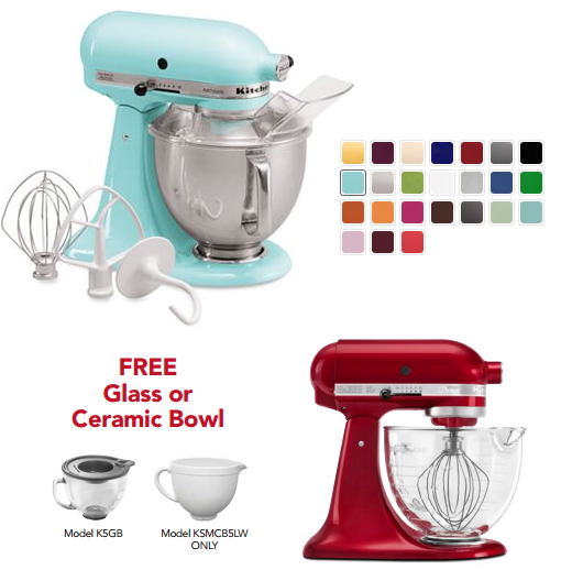 kitchenaid with bowl *HOT HOT!* KitchenAid Stand Mixer for As Low As $114.99 (After Kohls Cash & Rebate)! *Ends Tonight*