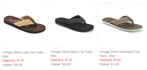 kohls men flip flops deal