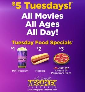megaplex $5 tuesdays