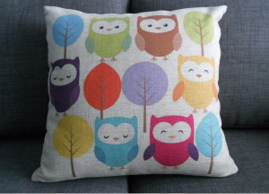 owl pillow 300x216 Cotton Linen Square Throw Pillow Case Cover 18X18 $6.31 (Reg. $20.48)