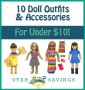 10 doll outfits and accessories for under $10