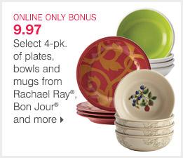 4 piece dishes bonus buy