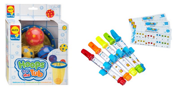ALEX Toys - Bathtime Fun, Hoops for the Tub and Water Flutes