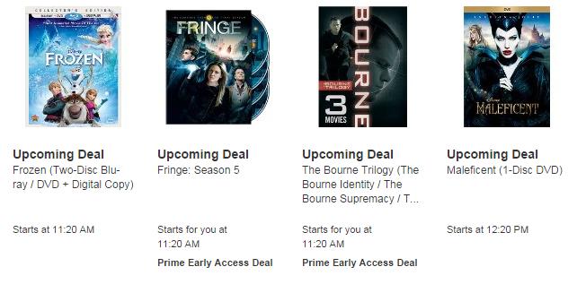 Amazon Movie Lightning Deals