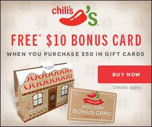 Chili's bonus gift card