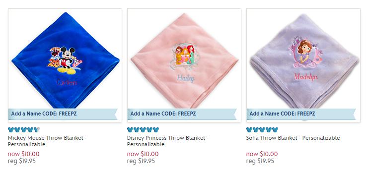Disney Store Blankets