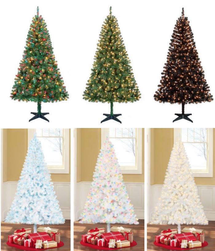 Madison Pine Christmas Tree: Holiday Time Pre-Lit 6.5′ Madison Christmas Tree For $39
