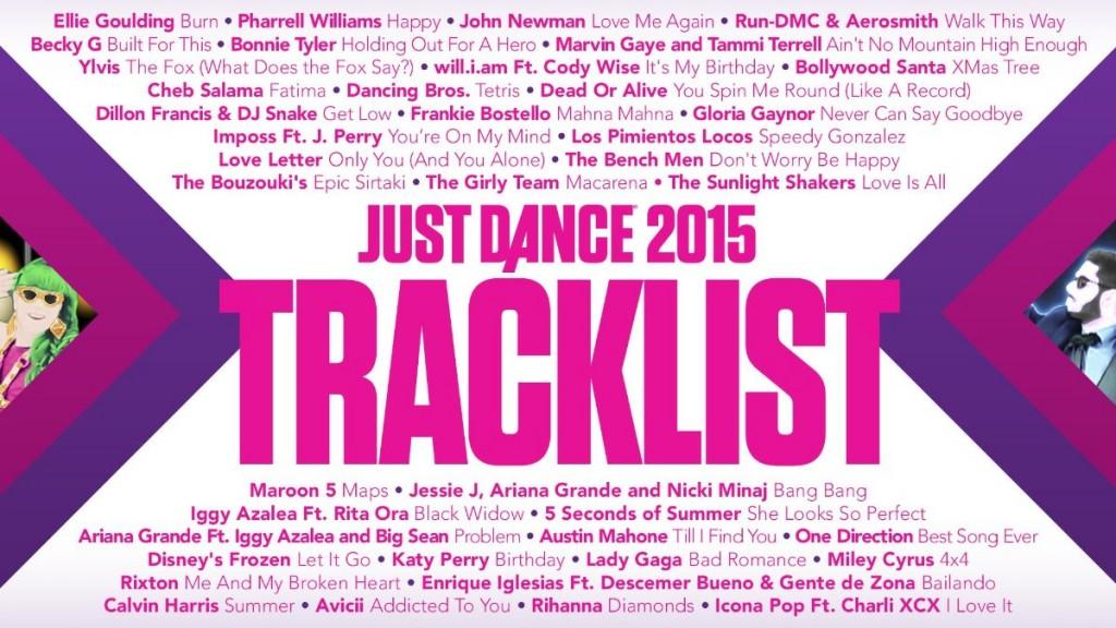 Just Dance Tracklist