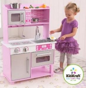 KidKraft 53291 Pink Toddler Kitchen with Accessories