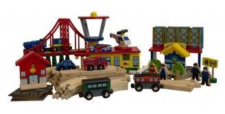 KidKraft 60 Piece Transportation Train Set