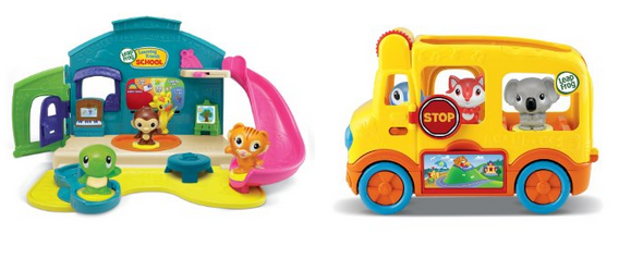 LeapFrog Learning Friends Adventure Bus and LeapFrog Learning Friends Play and Discover School Playset