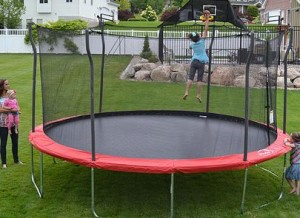 Propel Trampolines 15 Enclosed Trampoline with Anchor Kit
