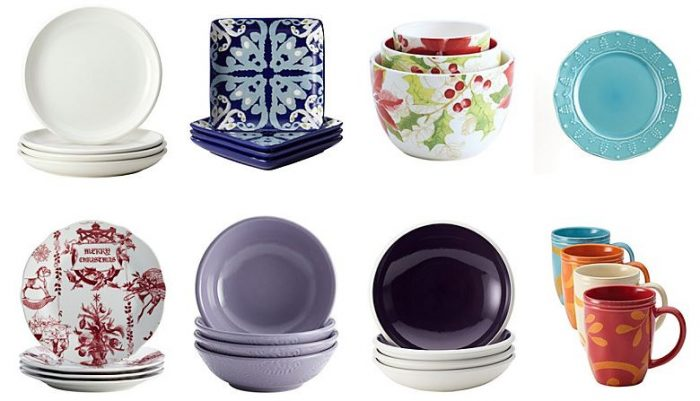 Rachael Ray, Bon Jour, Paula Deen Brands Select 4-Packs of Plates, Bowls, & Mugs