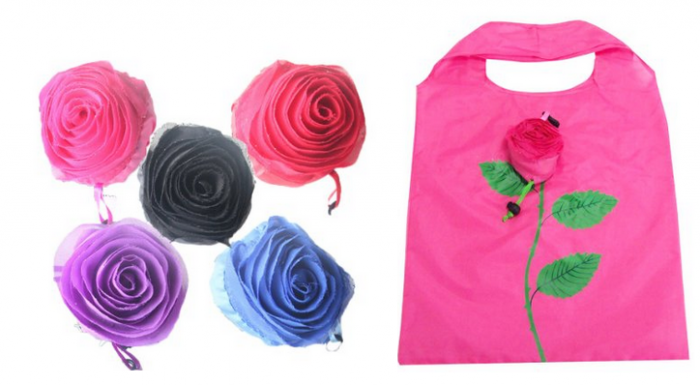 Reusable Rose Shopping Totes