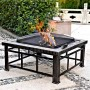 Square Slate Fire Pit Table