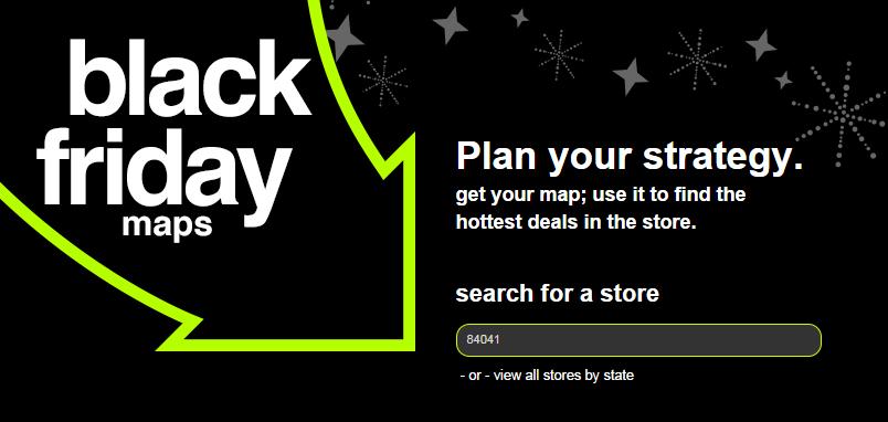 Target Black Friday Map