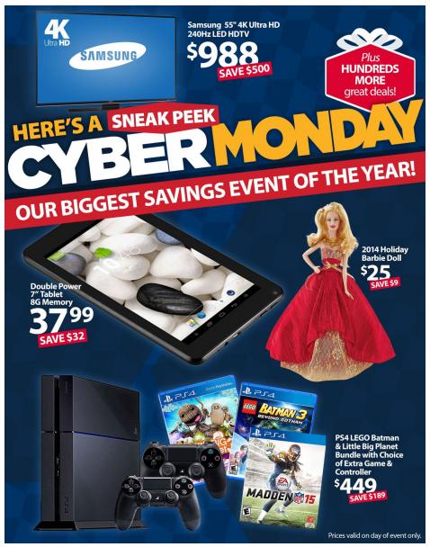 Walmart S Cyber Monday Ad Utah Sweet Savings