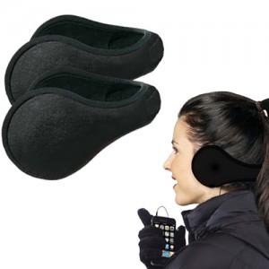 Winter Ear Warmers Behind the Ear Style - Fleece Muffs 2 pack